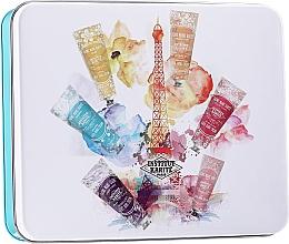 Fragrances, Perfumes, Cosmetics Set - Institut Karite A Day In Paris Tin Box (h/cr/30ml + soap/100g + b/oil/10ml + ash/balm/30ml + box)