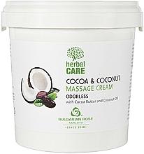 Fragrances, Perfumes, Cosmetics Cocoa & Coconut Massage Cream, odorless - Bulgarian Rose Herbal Care Cocoa & Coconut Massage Cream Odorless