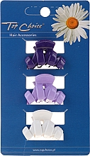 Fragrances, Perfumes, Cosmetics Hairpin 24122, white, purple and blue - Top Choice