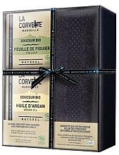 Fragrances, Perfumes, Cosmetics Set - La Corvette Douceur Bio Gift Box (soap/2x100g + towel/1pcs)