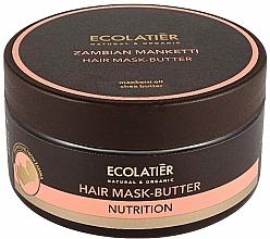 "Fragrances, Perfumes, Cosmetics Hair Mask-Butter ""Zambian Manketti"" - Ecolatier Butter Mask"