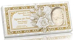 """Fragrances, Perfumes, Cosmetics Lady-Shaped Natural Soap Set """"Flower Bouquet"""" - Saponificio Artigianale Floral Bouquet Soap (soap/3pcsx125g)"""