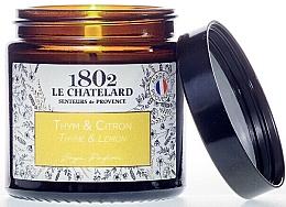 Fragrances, Perfumes, Cosmetics Thyme & Lemon Scented Candle - Le Chatelard 1802 Thyme-Lemon Scented Candle