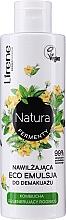 Fragrances, Perfumes, Cosmetics Moisturizing Makeup Remover Eco Emulsion - Lirene Natura Fermenty Moisturizing Eco Emulsion