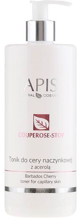 Soft Anti-Couperose Face Tonic with Acerola Extract - Apis Professional Couperose-Stop Barbados Cherry Tonner