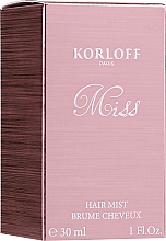 Fragrances, Perfumes, Cosmetics Korloff Paris Miss - Hair Mist