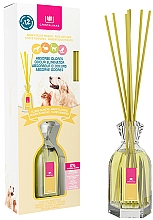 """Fragrances, Perfumes, Cosmetics Pet Odor Eliminator Reed Diffuser """"White Floweres"""" - Cristalinas Reed Diffuser"""