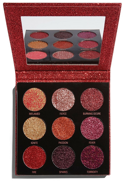 Glitter Palette - Makeup Revolution Pressed Glitter Palette Hot Pursuit
