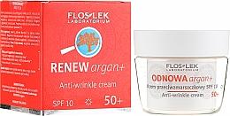 Fragrances, Perfumes, Cosmetics Day Face Cream SPF 10 - Floslek Odnowa Argan+ 50+