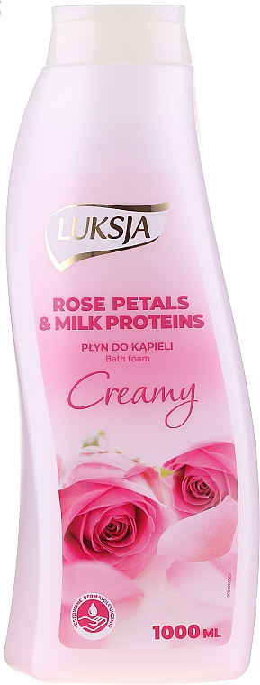 Bubble Bath - Luksja Creamy Rose Petals & Milk Proteins Bath Foam