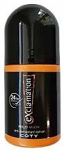 Fragrances, Perfumes, Cosmetics Coty Ex'cla-ma'tion Wild Musk Anti-Transpirant Roll-On - Deodorant