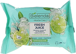 Fragrances, Perfumes, Cosmetics Micellar Makeup Remover Wipes with Bioactive Citrus Water - Bielenda Fresh Juice Micelar Make-up Removing Wipes