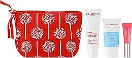 Fragrances, Perfumes, Cosmetics Set - Clarins Baume Beaute Eclair Set (balm/50ml + scr/15ml + lip/gloss/5ml + bag)