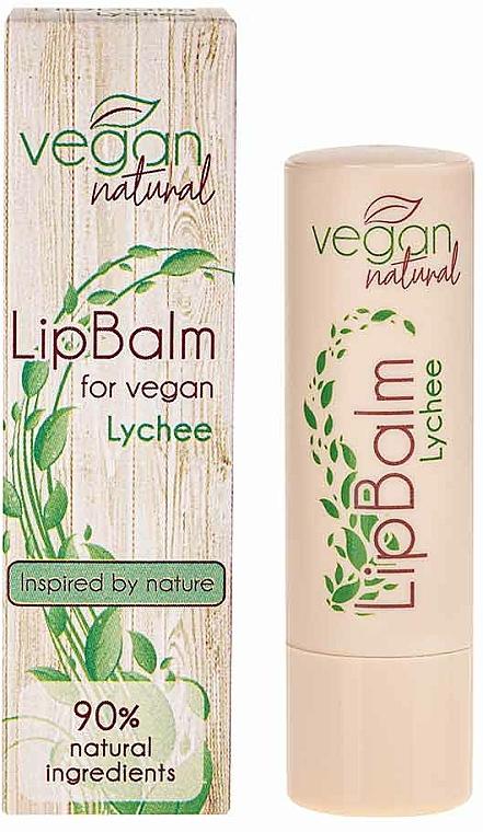 Lychee Lip Balm - Vegan Natural Lip Balm For Vegan Lychee — photo N2