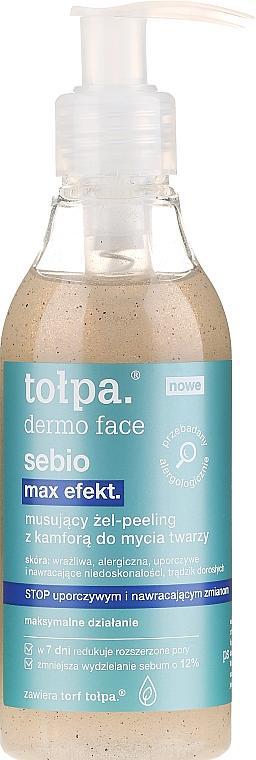 Fizzy Face Wash Gel - Tolpa Dermo Face Sebio Max Efect Gel-peeling