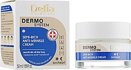 Fragrances, Perfumes, Cosmetics Anti-Aging Face Cream - Delia Dermo System Semi-Rich Anti-Wrinkle Cream