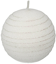 "Fragrances, Perfumes, Cosmetics Decorative Candle ""White Ball"", 8cm - Artman Andalo"