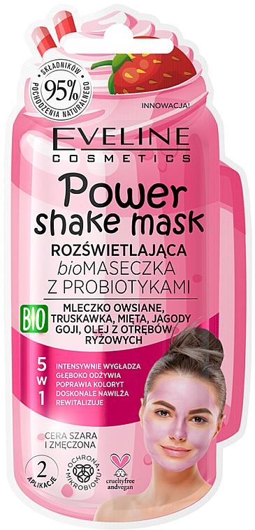 """Probiotic Bio Mask """"Skin Radiance"""" - Eveline Cosmetics Power Shake Mask"""