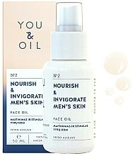 "Fragrances, Perfumes, Cosmetics Face Oil ""Nourish & Invigorate"" - You & Oil Nourish & Invigorate Men's Skin Face Oil"