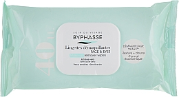 Fragrances, Perfumes, Cosmetics Makeup Remover Wipes - Byphasse Make-up Remover Aloe Vera Sensitive Skin Wipes (eco pack)