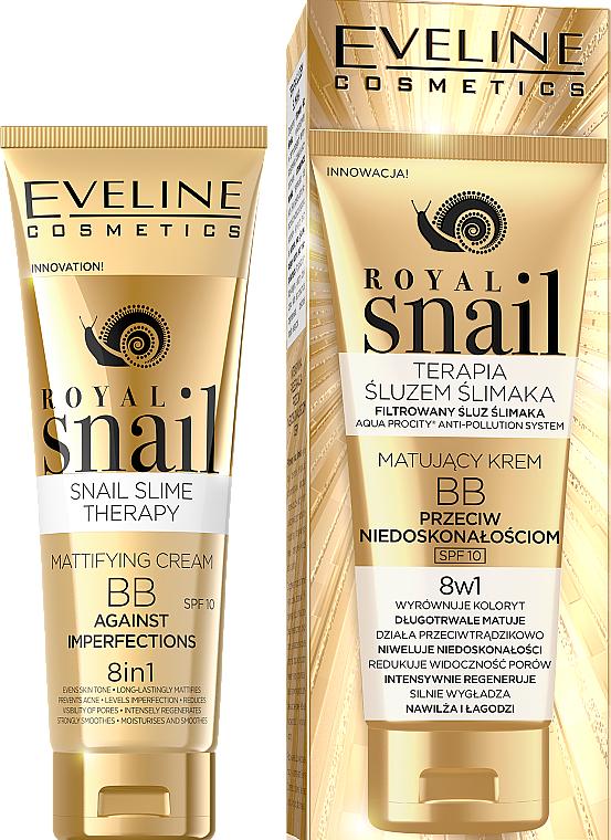 Mattifying BB Cream - Eveline Cosmetics Royal Snail BB Cream 8in1