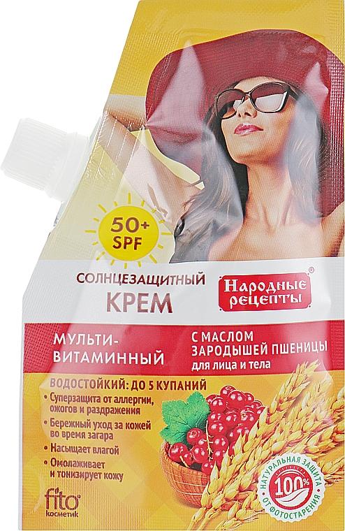 Wheat Germ Oil Sun Cream SPF50 - Fito Cosmetic Folk Recipes
