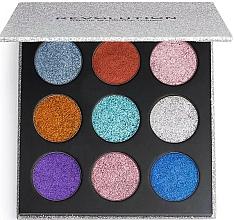 Fragrances, Perfumes, Cosmetics Glitter Palette - Makeup Revolution Pressed Glitter Palette Illusion