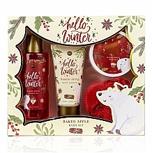 Fragrances, Perfumes, Cosmetics Set - Accentra Hello Winter Baked Apple (sh/g/150ml + b/lot/60ml + salt/70g + sponge)