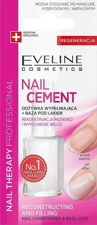 Nail Conditioner-Base - Eveline Cosmetics Nail Cement Conditioner & Base Coat