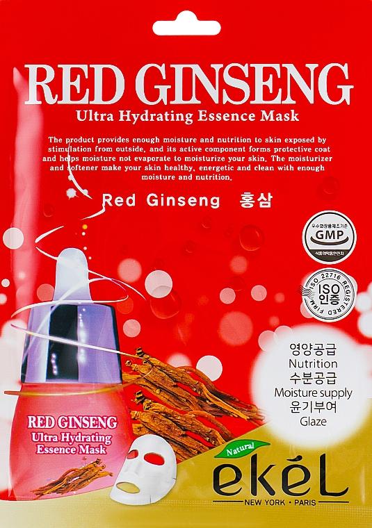 Red Ginseng Sheet Mask - Ekel Red Ging Seng Ultra Hydrating Essence Mask