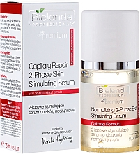 Fragrances, Perfumes, Cosmetics Stimulating Two-Phase Serum for Cuperose Skin - Bielenda Professional Capilary Repair 2-Phase Skin Simulating Serum