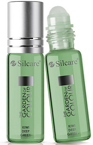 Nail & Cuticle Oil - Silcare The Garden of Colour Cuticle Oil Roll On Kiwi Deep Green