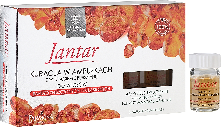 Very Damaged Hair Treatment - Farmona Jantar Hair Treatment In Ampoules