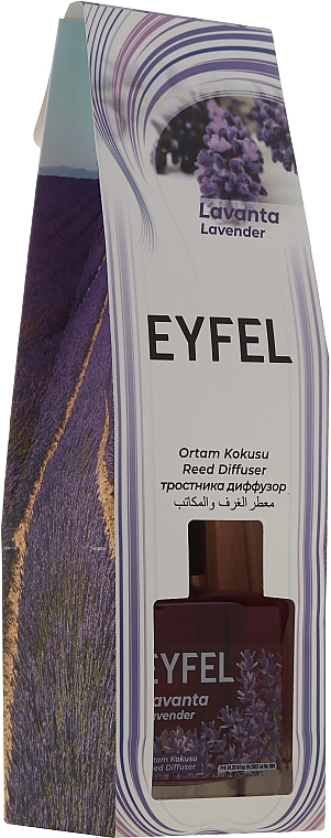 """Reed Diffuser """"Lavender"""" - Eyfel Perfume Reed Diffuser Flower"""