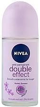 "Fragrances, Perfumes, Cosmetics Roll-on Deodorant Antiperspirant ""Double Effect"" - Nivea Double Effect Deodorant Roll-On"