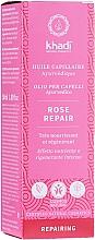 Fragrances, Perfumes, Cosmetics Intensive Nourishing Hair Oil - Khadi Ayuverdic Rose Repair Hair Oil