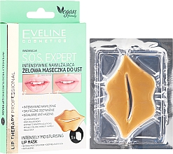 Fragrances, Perfumes, Cosmetics Lip Gel Mask - Eveline Cosmetics Lip Therapy S.O.S. Expert Intensely Moisturising Lip Mask