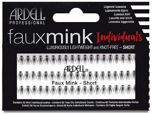 Flase Lashes - Ardell Faux Mink Individuals Knot Free-Short Black