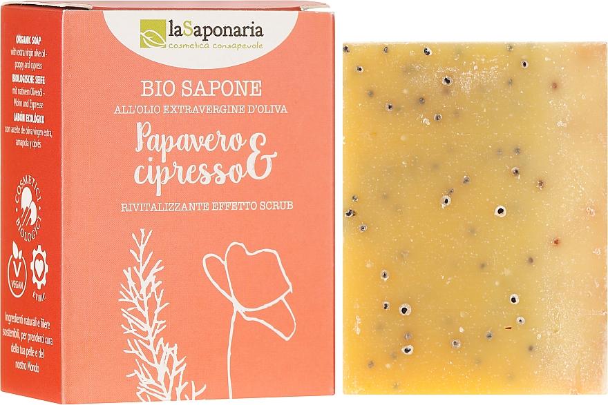 """Bio Soap """"Poppy and Cypress"""" - La Saponaria Bio Sapone"""