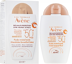 Fragrances, Perfumes, Cosmetics Tinted Sunscreen Mineral Fluid - Avene Eau Thermale Tinted Mineral Fluid SPF 50+