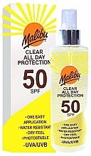 Fragrances, Perfumes, Cosmetics Sunscreen Spray - Malibu Clear All Day Protection SPF 50