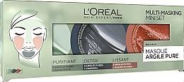 Fragrances, Perfumes, Cosmetics Set - L'Oreal Paris Skin Expert Pure Clay Multi-Masking Mini Set (mask/3*10ml)