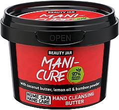 Fragrances, Perfumes, Cosmetics Cleansing Hand Oil - Beauty Jar Mani-Cure Hand Cleansing Butter