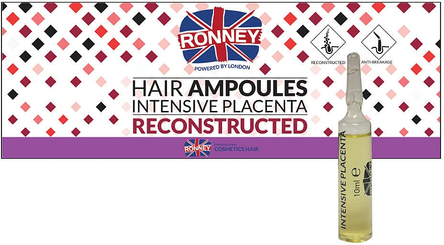 Anti-Hair Loss Ampoules - Ronney Hair Ampoules Intensive Placenta