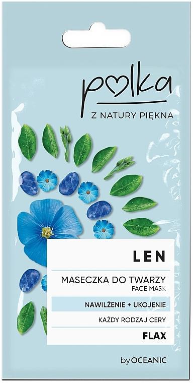 Linen, Moisturizing Facial Mask - Polka Face Mask