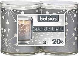 Fragrances, Perfumes, Cosmetics Holders with Candles - Bolsius Sparkle Lights Crystal Silver Candle