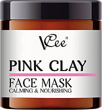 Fragrances, Perfumes, Cosmetics Pink Clay Face Mask - VCee Pink Clay Face Mask Calming&Nourisning