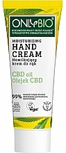 Fragrances, Perfumes, Cosmetics Moisturizing Hand Cream - Only Bio Only Eco CBD Oil