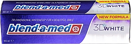 """Fragrances, Perfumes, Cosmetics Toothpaste """"3D Whitening"""" - Blend-a-med 3D White Toothpaste"""