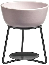 Fragrances, Perfumes, Cosmetics Aroma Lamp - Yankee Candle Grey Lilac Pebble Wax Melt Warmer